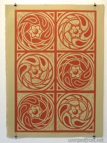 Linocut print, 2017