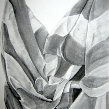 Charcoal on paper, 2001. Exhibited at the Scholastic Art Awards.