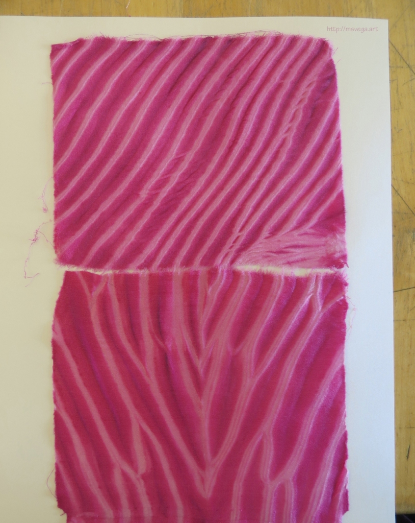The result of the arashi technique on silk
